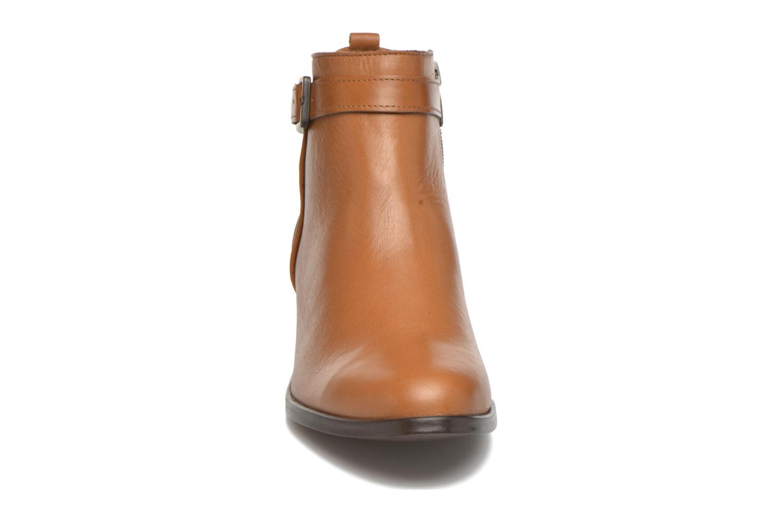 Bottines et boots Karston GLELIN *Mult Vo Truck CAMEL ~Doubl & 1ere CUIR Marron vue portées chaussures