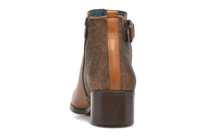 Bottines et boots Karston GLELIN *Mult Vo Truck CAMEL ~Doubl & 1ere CUIR Marron vue droite