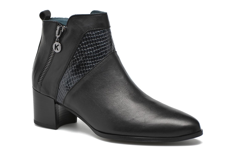 Bottines et boots Karston HECHIX #Mult Vo Milled NOIR ~Doubl & 1ere CUIR Noir vue détail/paire