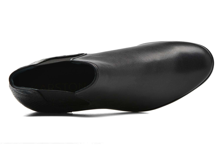 Botines  Karston Joyel Negro vista lateral izquierda