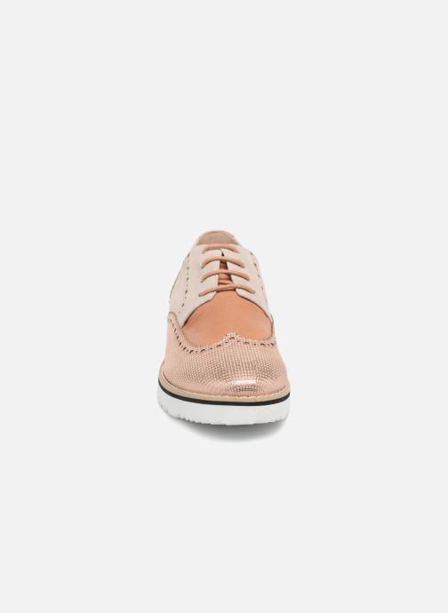 Zapatos con cordones Karston Olago Oro y bronce vista del modelo