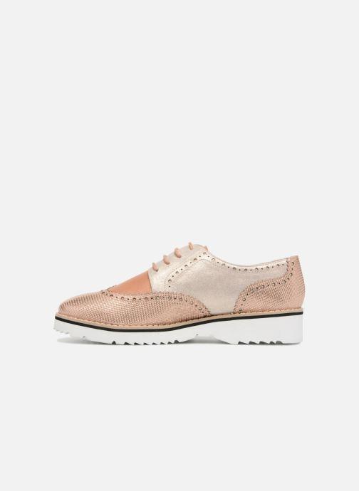 Zapatos con cordones Karston Olago Oro y bronce vista de frente