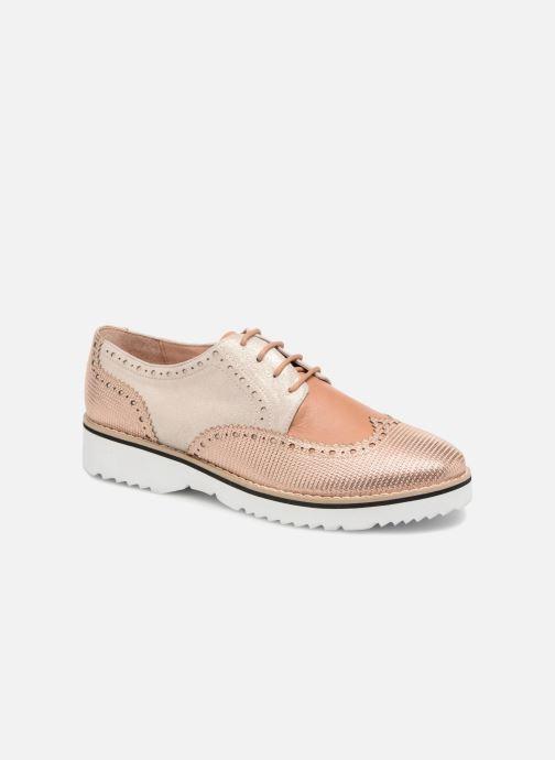 Zapatos con cordones Karston Olago Oro y bronce vista de detalle / par
