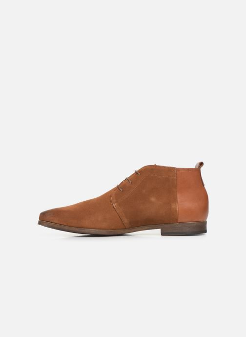 Lace-up shoes Kost Zepi76 Brown front view
