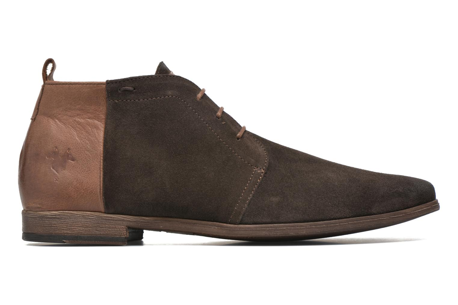 Lace-up shoes Kost Zepi76 Brown back view