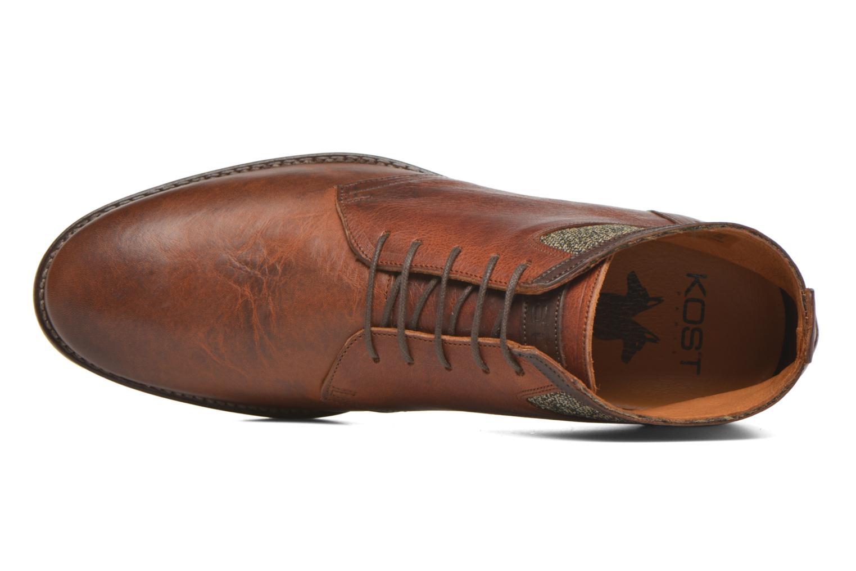 Zapatos con cordones Kost Renon25 Marrón vista lateral izquierda