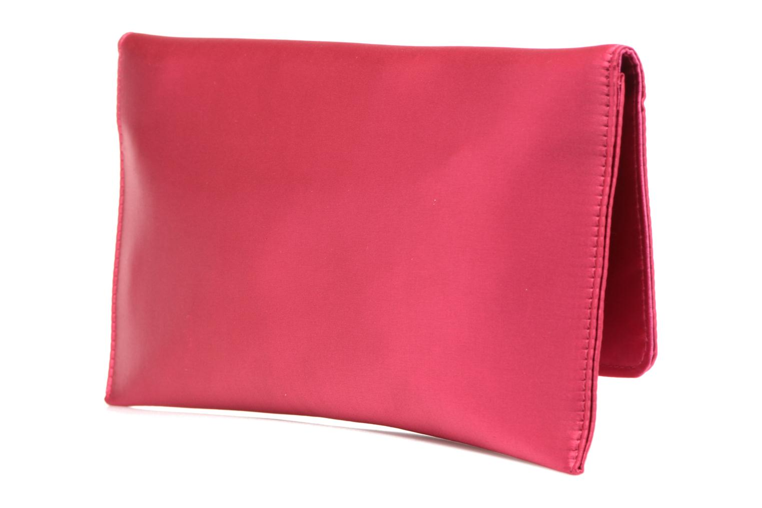 Handbags Menbur Pochette satin Pink view from the right