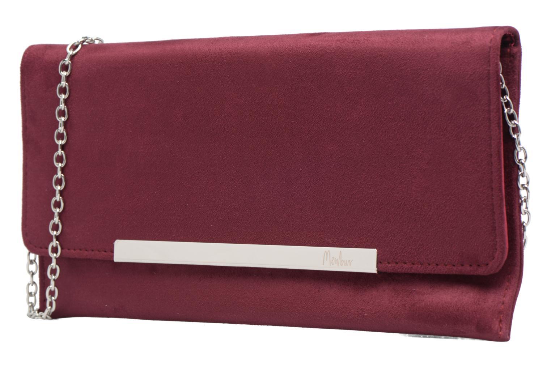 Bolsos de mano Menbur Pochette suédée S Rojo vista del modelo