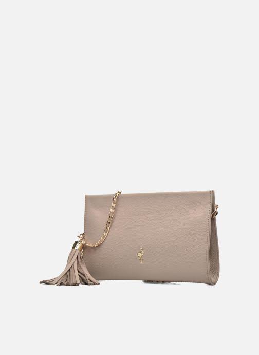 Clutch bags Menbur Pochette grainée pompon Beige model view