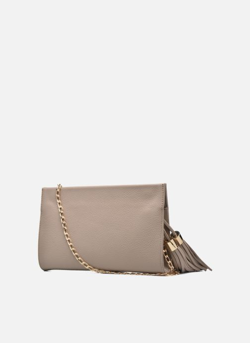Clutch bags Menbur Pochette grainée pompon Beige view from the right