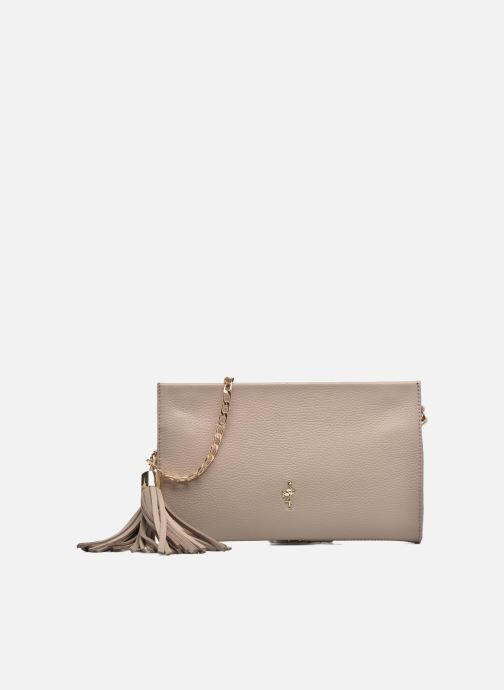 Clutch bags Menbur Pochette grainée pompon Beige detailed view/ Pair view