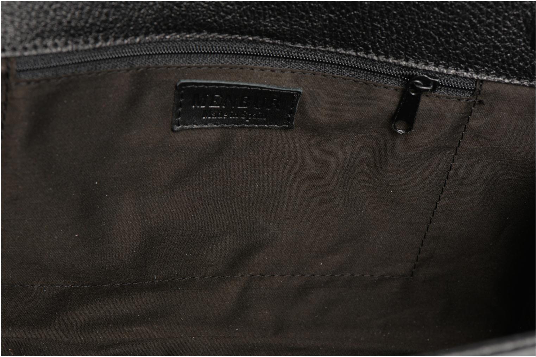 Clutch bags Menbur Pochette grainée pompon Black back view