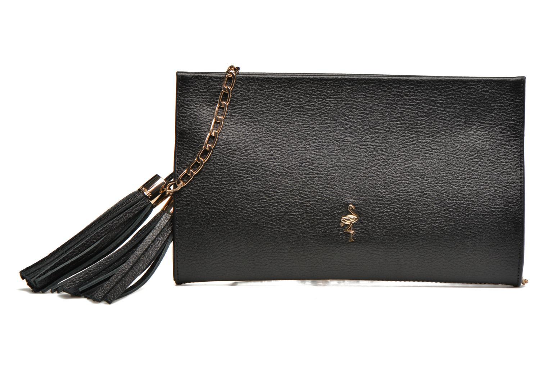 Clutch bags Menbur Pochette grainée pompon Black detailed view/ Pair view