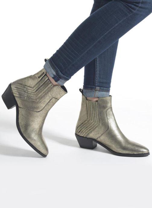 Botines  Pepe jeans Dina New Metal Oro y bronce vista de abajo