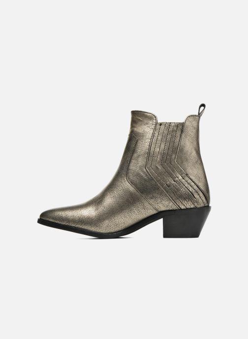 Boots en enkellaarsjes Pepe jeans Dina New Metal Goud en brons voorkant
