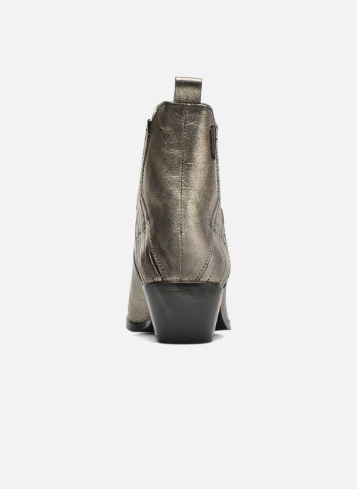 Boots en enkellaarsjes Pepe jeans Dina New Metal Goud en brons rechts