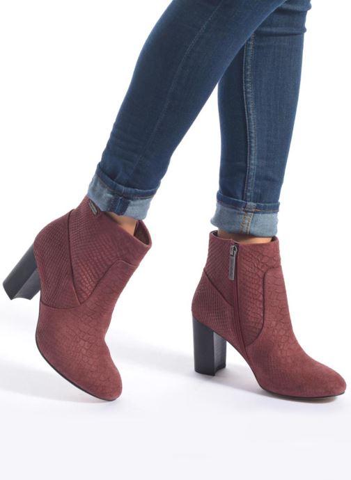 Bottines et boots Pepe jeans Dylan Basic Snake Bordeaux vue bas / vue portée sac