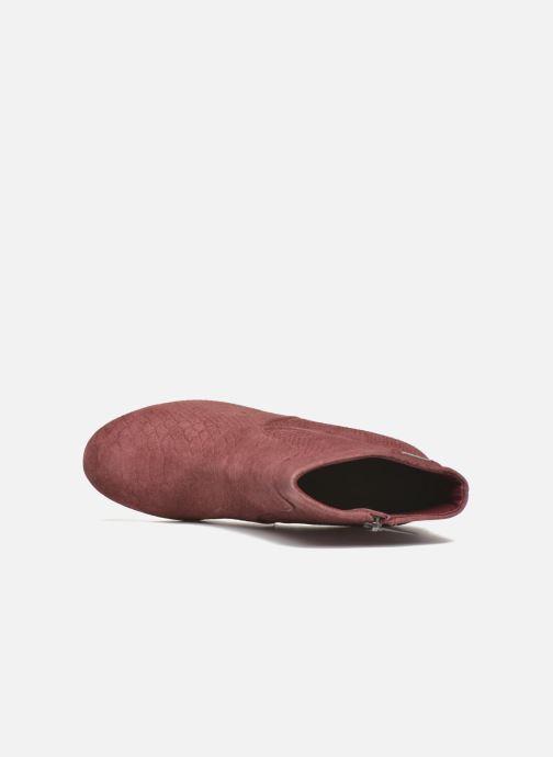 Bottines et boots Pepe jeans Dylan Basic Snake Bordeaux vue gauche