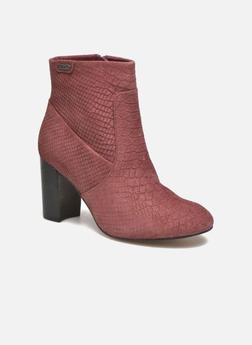 Bottines et boots Pepe jeans Dylan Basic Snake Bordeaux vue détail/paire