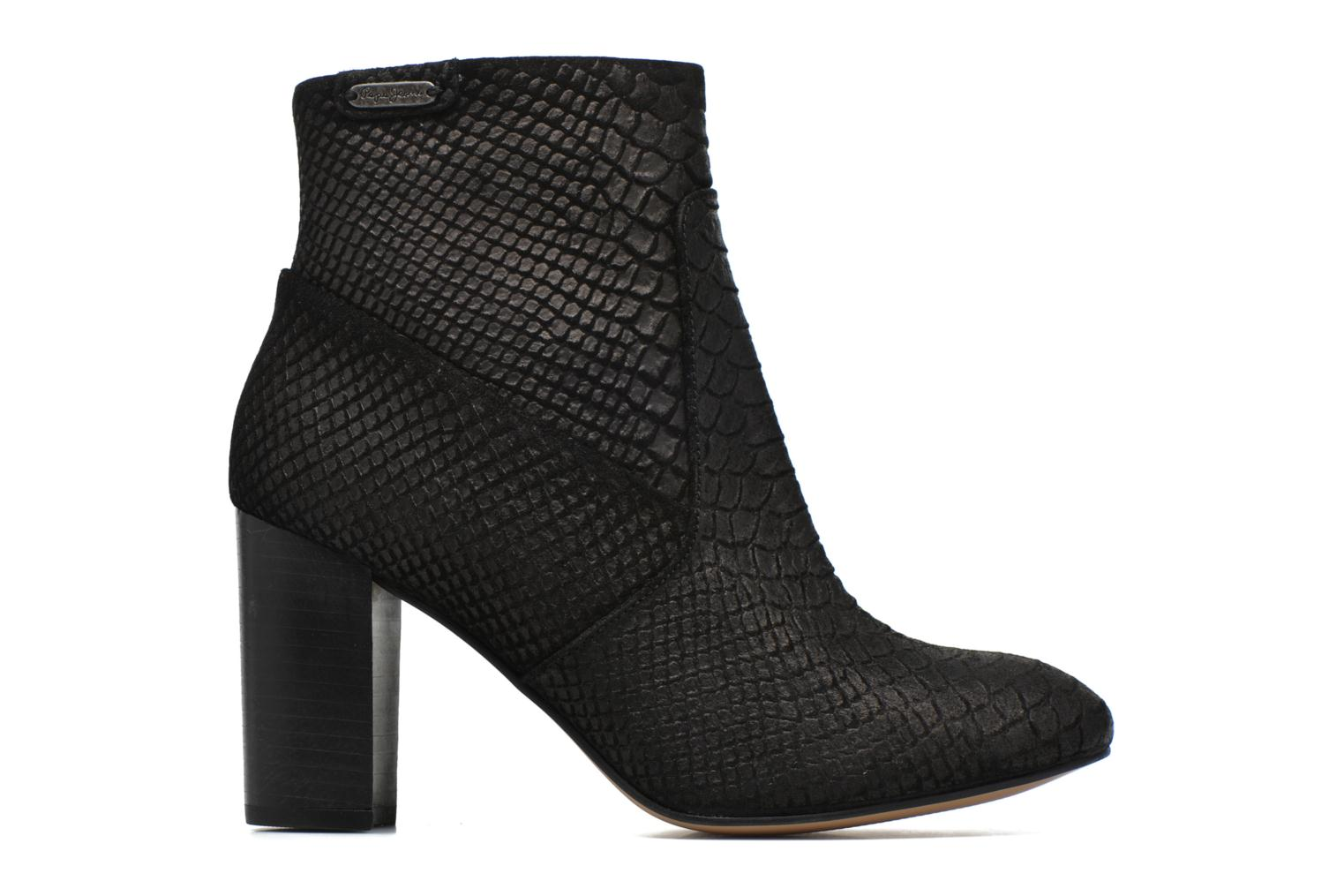 Ankle boots Pepe jeans Dylan Basic Snake Black back view
