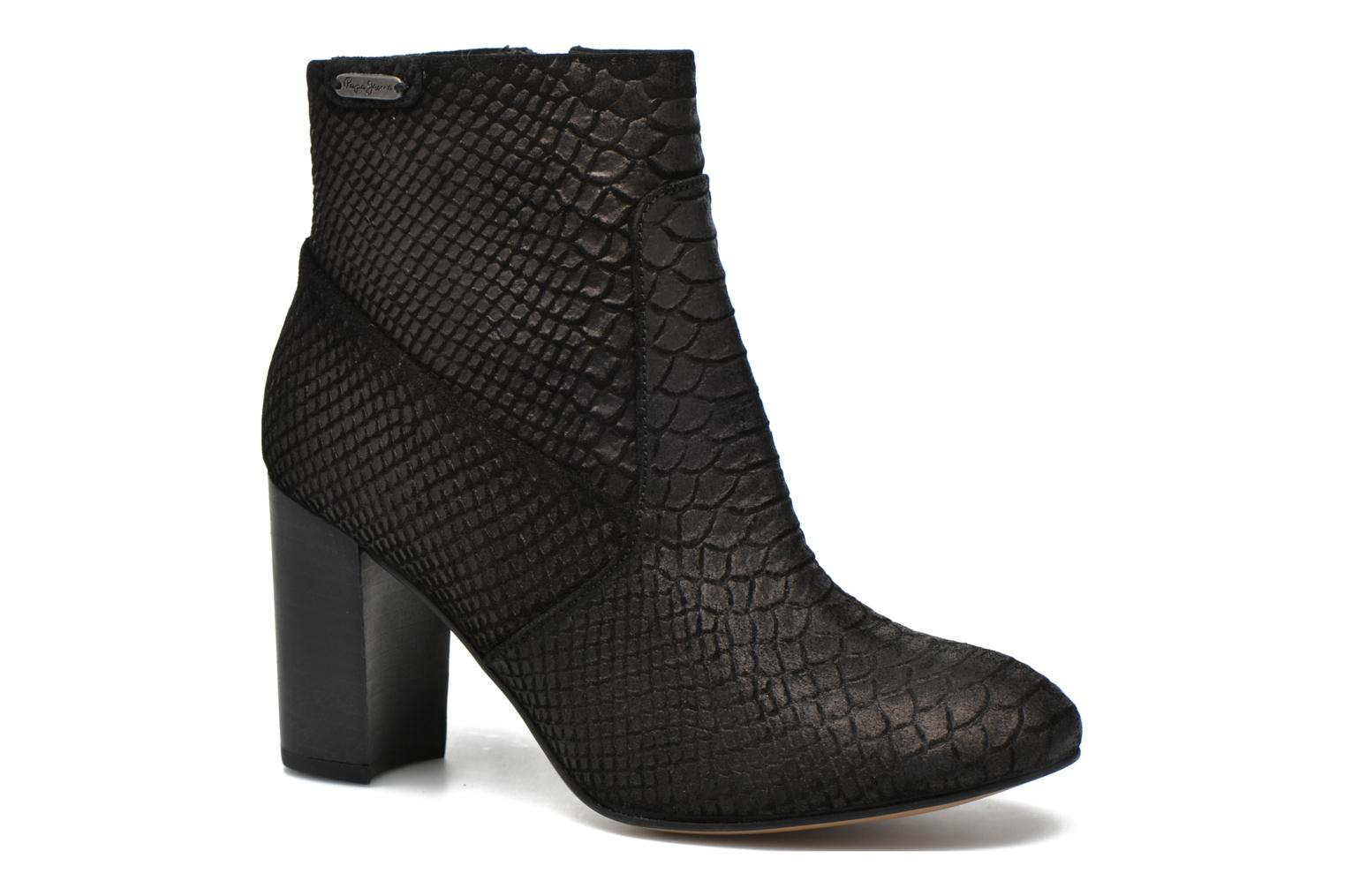Ankle boots Pepe jeans Dylan Basic Snake Black detailed view/ Pair view