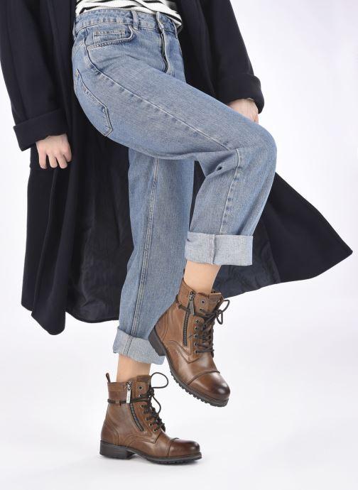 Bottines et boots Pepe jeans Melting W. Zipper Marron vue bas / vue portée sac