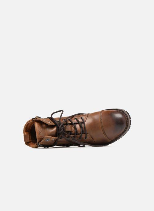 Bottines et boots Pepe jeans Melting W. Zipper Marron vue gauche