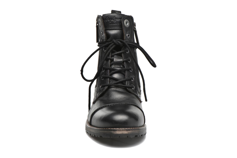 Botines  Pepe jeans Melting W. Zipper Negro vista del modelo