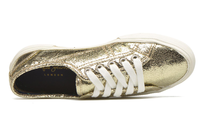 Deportivas Pepe jeans Aberlady Crackle Oro y bronce vista lateral izquierda