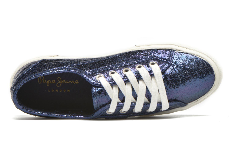 Deportivas Pepe jeans Aberlady Crackle Azul vista lateral izquierda