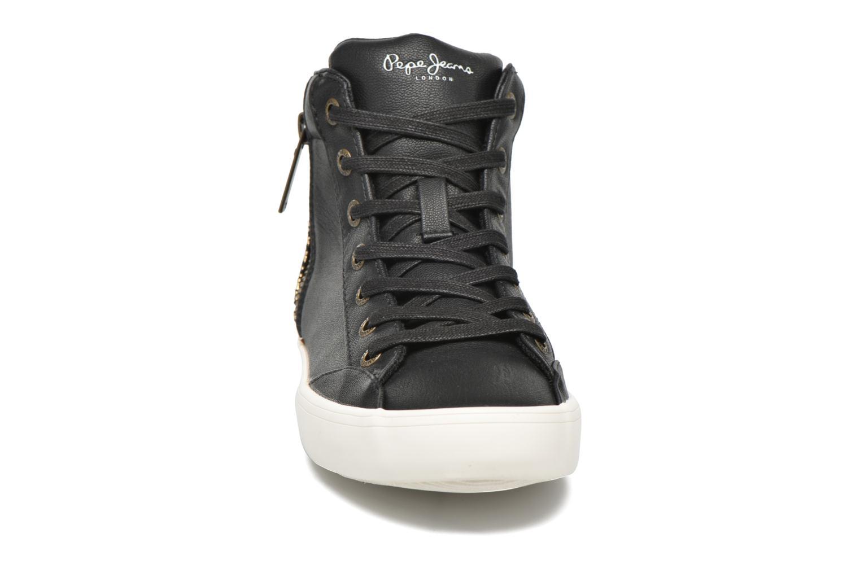 Baskets Pepe jeans Clinton Break Noir vue portées chaussures