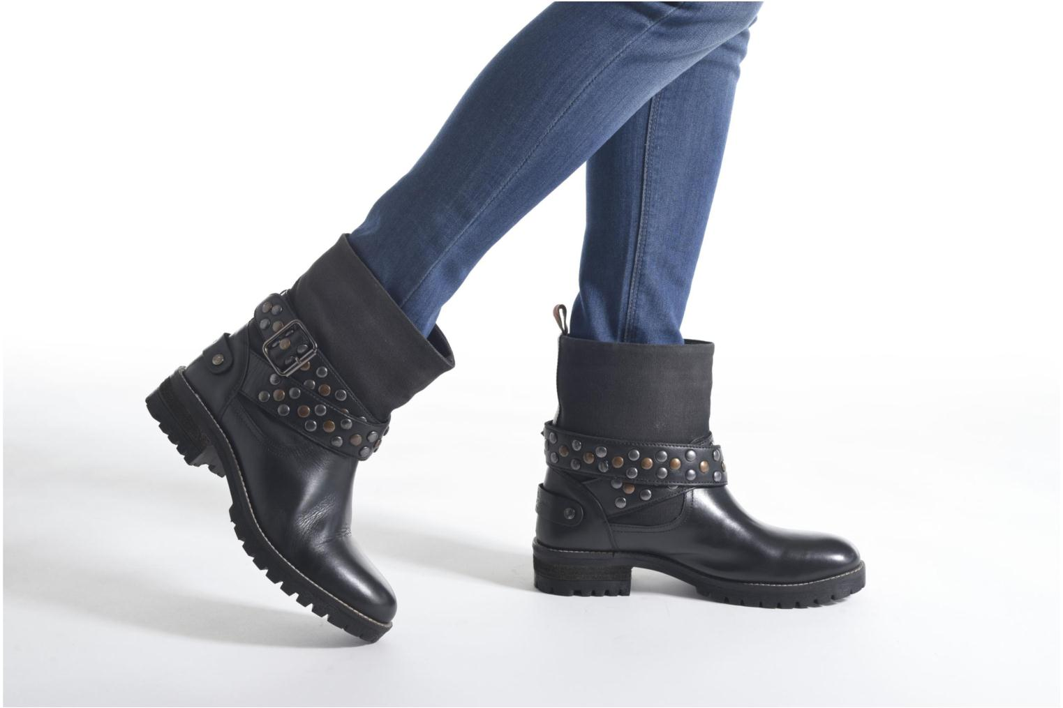 Ankle boots Pepe jeans Helen Straps Black view from underneath / model view