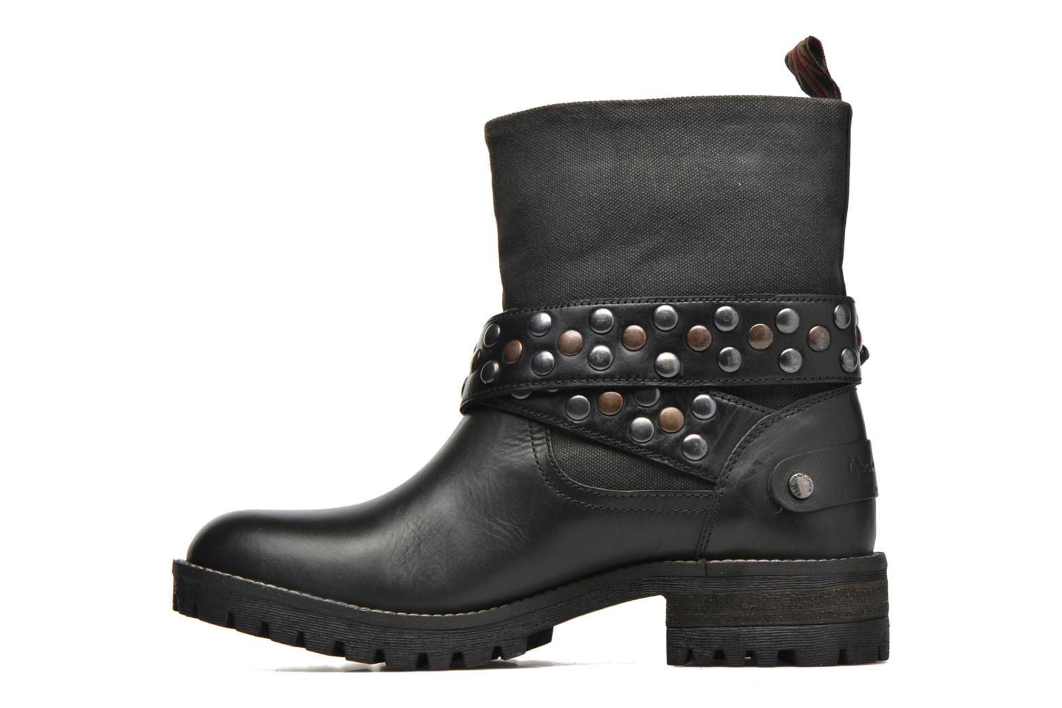 Ankle boots Pepe jeans Helen Straps Black front view