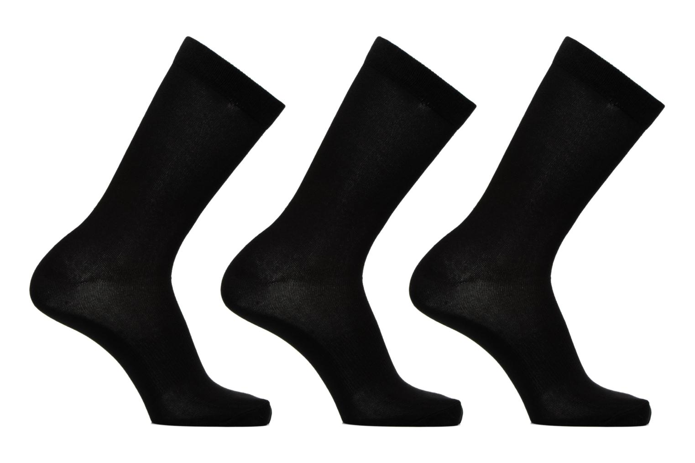 Chaussettes et collants Adidas Performance PER LA CREW T3P Noir vue détail/paire