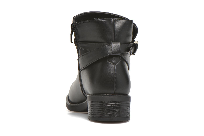 Bottines et boots Pieces Daniella Noir vue droite