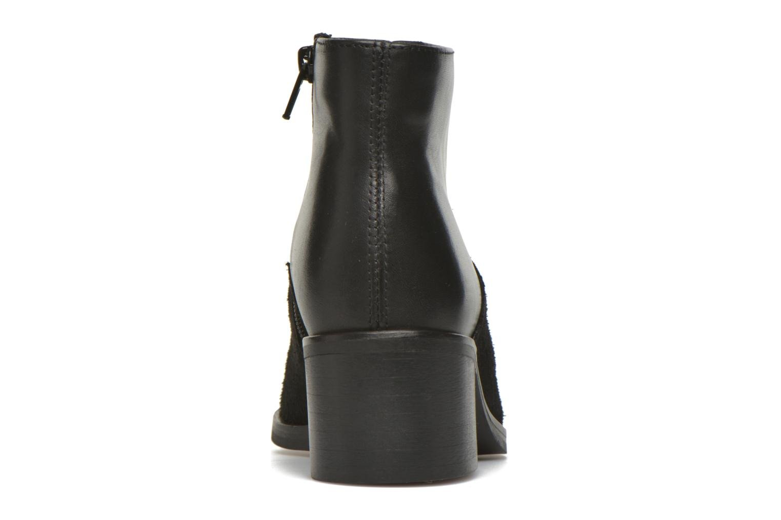 Ankle boots Pieces Dabai Leather Boot Black view from the right