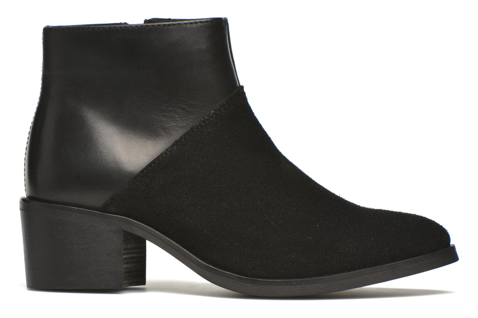 Ankle boots Pieces Dabai Leather Boot Black back view
