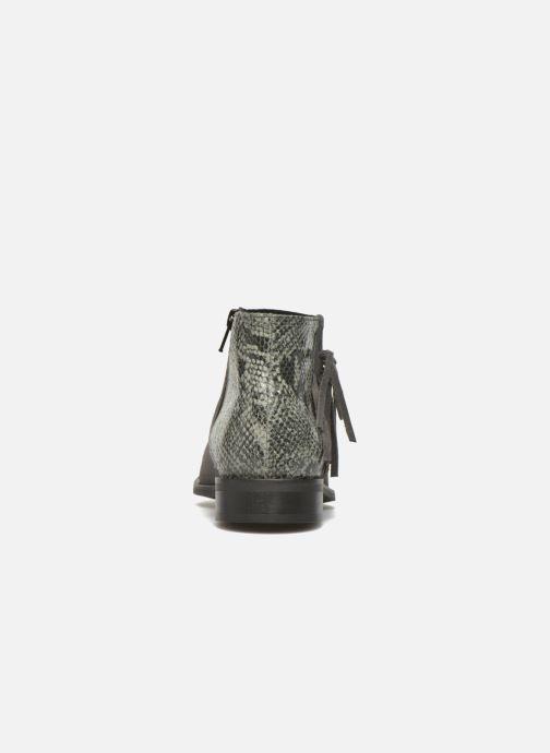 Boots en enkellaarsjes Pieces Derika Leather Boot Grijs rechts