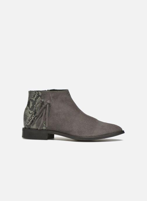 Boots en enkellaarsjes Pieces Derika Leather Boot Grijs achterkant