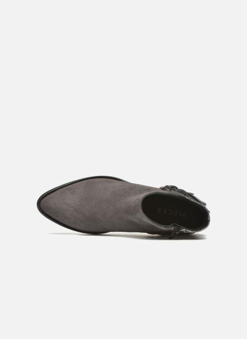 Stivaletti e tronchetti Pieces Derika Leather Boot Grigio immagine sinistra