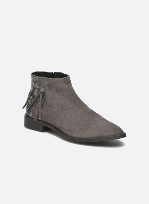 Boots en enkellaarsjes Pieces Derika Leather Boot Grijs detail