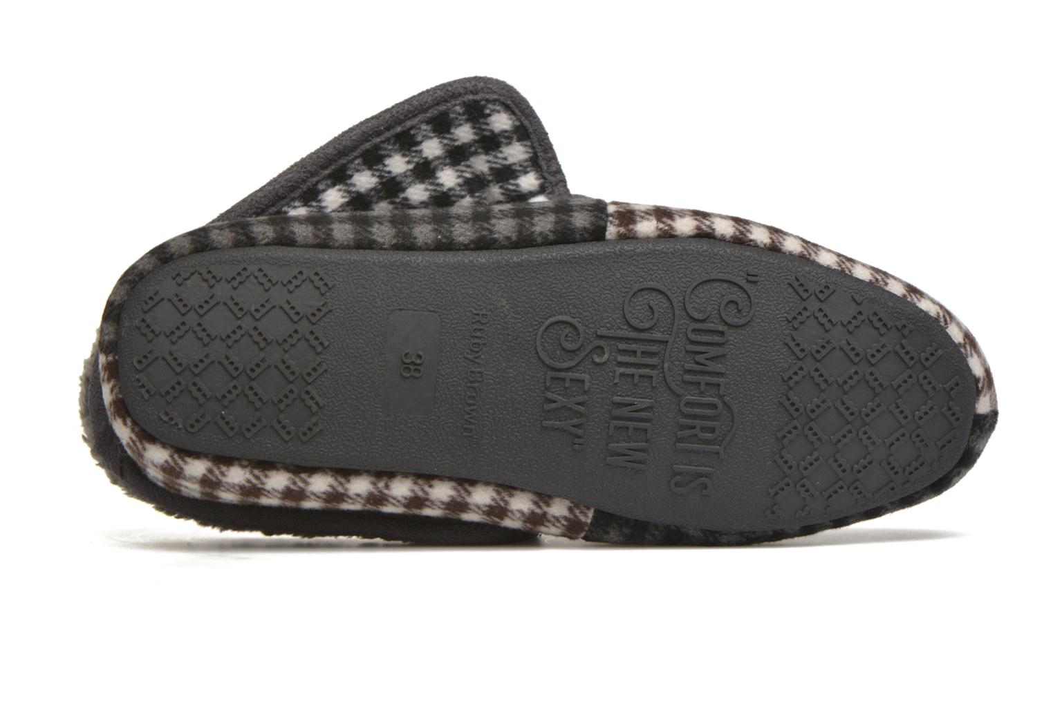 Slippers Ruby Brown Sian Multicolor view from above