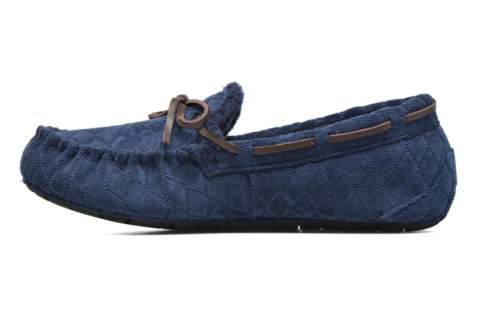 Chaussons Ruby Brown Finlay Bleu vue face