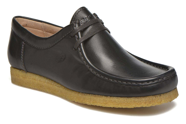 Chaussures à lacets Sioux Grashopper-H-141 Noir vue détail/paire