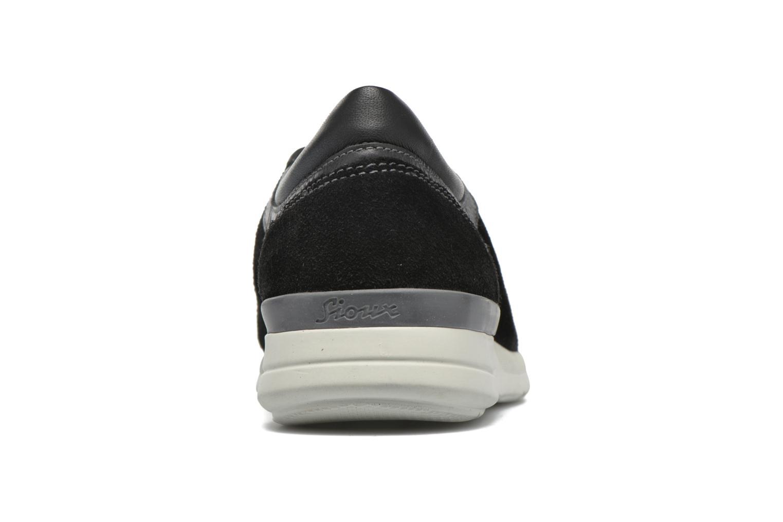 Chaussures à lacets Sioux Aiello Noir vue droite