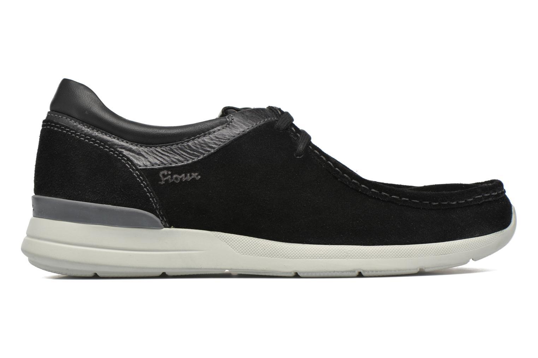 Chaussures à lacets Sioux Aiello Noir vue derrière