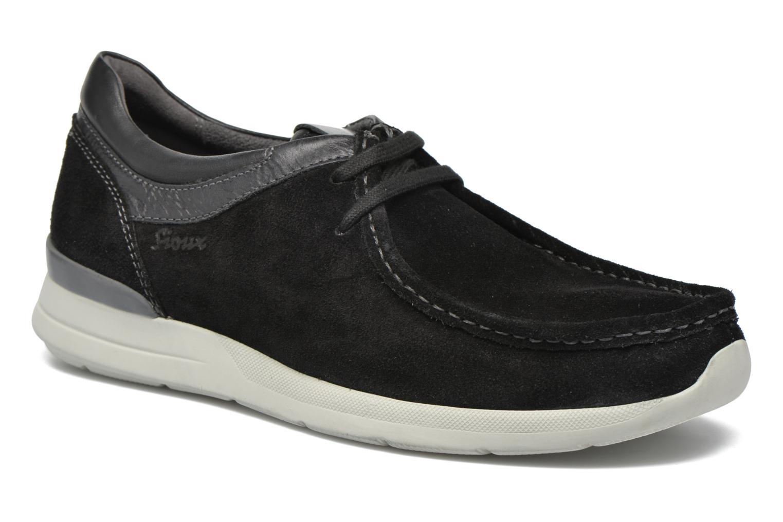 Chaussures à lacets Sioux Aiello Noir vue détail/paire