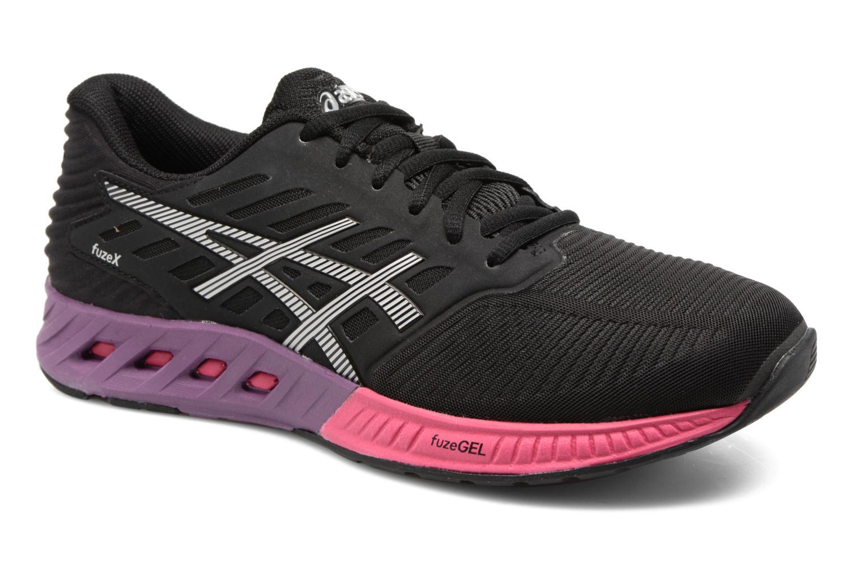 Chaussures de sport Asics Fuzex W Noir vue détail/paire