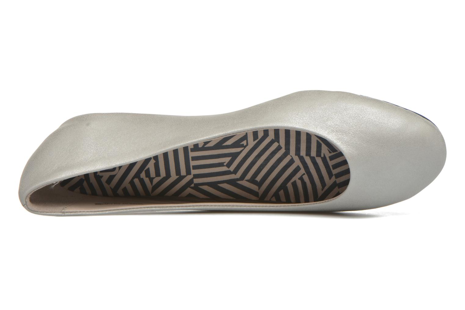 Ballet pumps TBS Camille Silver view from the left