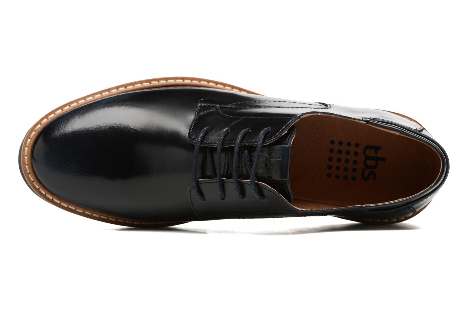 Lace-up shoes TBS Typhany Blue view from the left